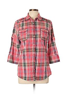 Roar 3/4 Sleeve Button-Down Shirt Size XL
