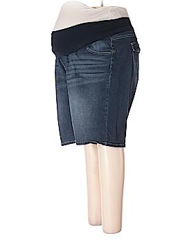 Indigo Blue Denim Shorts Size 2X (Maternity)