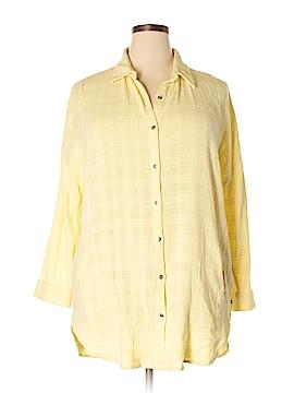 Soft Surroundings Long Sleeve Button-Down Shirt Size XL