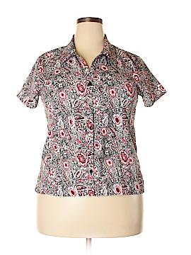 Notations Short Sleeve Button-Down Shirt Size XL (Petite)