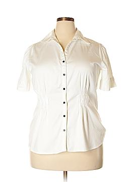 Fred David Short Sleeve Button-Down Shirt Size 1X (Plus)
