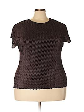 Kim Rogers Short Sleeve Blouse Size 2X (Plus)