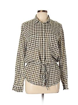 Joe Fresh Long Sleeve Button-Down Shirt Size L