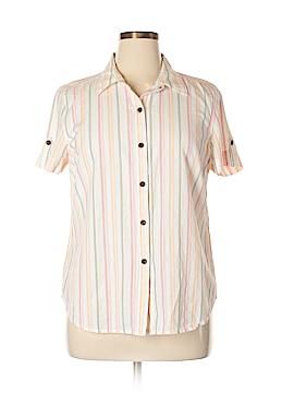 Sag Harbor Short Sleeve Button-Down Shirt Size XL