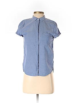 H&M L.O.G.G. Short Sleeve Button-Down Shirt Size 2