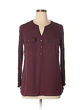 INC International Concepts Long Sleeve Blouse Size 0X (Plus)
