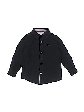 CALVIN KLEIN JEANS Long Sleeve Button-Down Shirt Size 4T