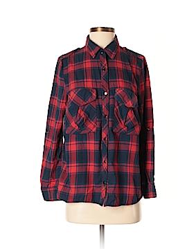 Aqua Long Sleeve Button-Down Shirt Size S