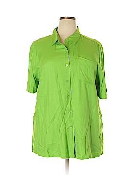 Carolina Colours Short Sleeve Button-Down Shirt Size 22W (Plus)