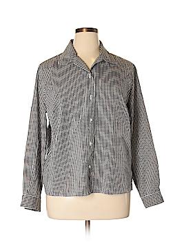 Pendleton Long Sleeve Button-Down Shirt Size 18W (Plus)