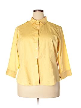 Van Heusen 3/4 Sleeve Button-Down Shirt Size 2X (Plus)