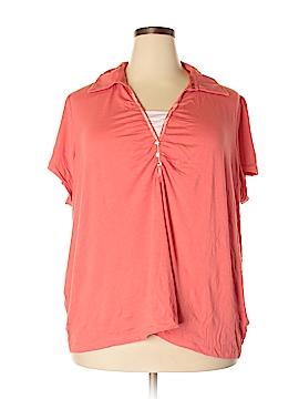Laura Scott Short Sleeve Polo Size 3X (Plus)