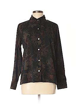 Caribbean Joe Long Sleeve Button-Down Shirt Size M
