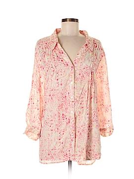 Gloria Vanderbilt 3/4 Sleeve Button-Down Shirt Size XXL