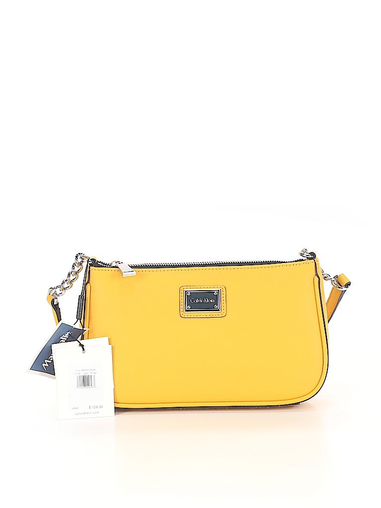 0ef385a595d Calvin Klein Solid Yellow Shoulder Bag One Size - 68% off | thredUP