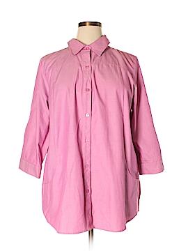 Joan Rivers 3/4 Sleeve Button-Down Shirt Size XL