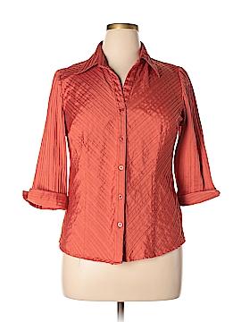 DressBarn 3/4 Sleeve Button-Down Shirt Size XL