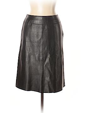 Brooks Brothers Leather Skirt Size 10 (Petite)