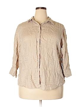 Charter Club 3/4 Sleeve Button-Down Shirt Size 18 (Plus)