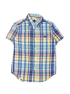 Chaps Short Sleeve Button-Down Shirt Size 6
