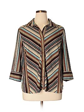 Como 3/4 Sleeve Button-Down Shirt Size 2X (Plus)