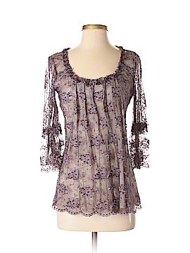 Anna Sui 3/4 Sleeve Silk Top Size 2