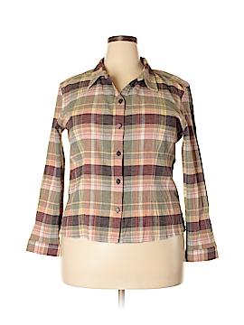 Christopher & Banks Long Sleeve Button-Down Shirt Size XL (Petite)