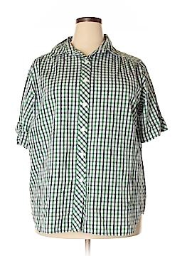 BonWorth Short Sleeve Button-Down Shirt Size XL