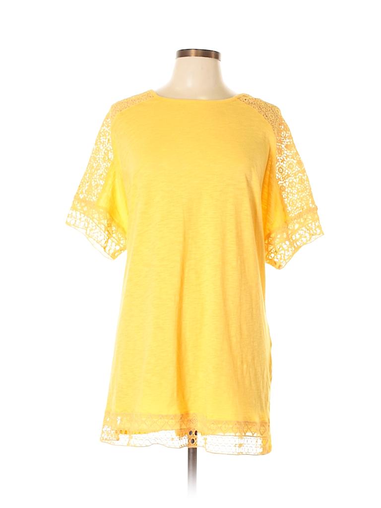 Hannah Women Short Sleeve Top Size 1X (Plus)