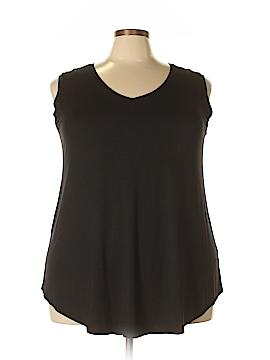 Joan Vass Sleeveless Top Size 2X (Plus)
