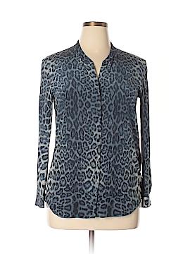 The Kooples Long Sleeve Silk Top Size L