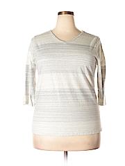 Cj Banks Women 3/4 Sleeve Top Size 1X (Plus)