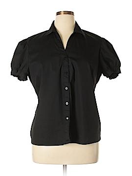 George Short Sleeve Button-Down Shirt Size 20 (Plus)