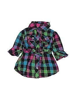 Little Lass Long Sleeve Button-Down Shirt Size 3-6 mo