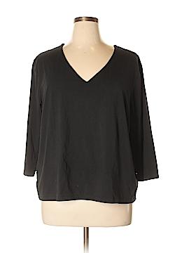 Sutton Studio 3/4 Sleeve T-Shirt Size 3X (Plus)