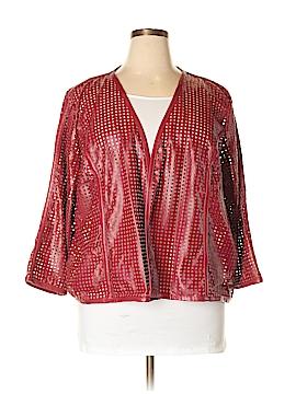 Eloquii Faux Leather Jacket Size 24 (Plus)