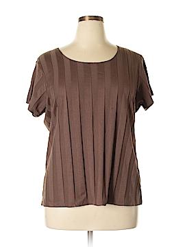D&Co. Short Sleeve T-Shirt Size 1X (Plus)