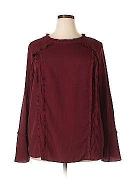 Ava & Viv Long Sleeve Blouse Size 2X (Plus)