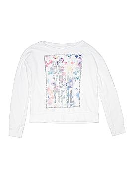 Three Silver Hearts Sweatshirt Size 10