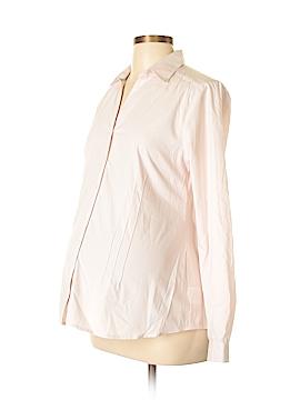 Mimi Maternity Long Sleeve Button-Down Shirt Size M (Maternity)