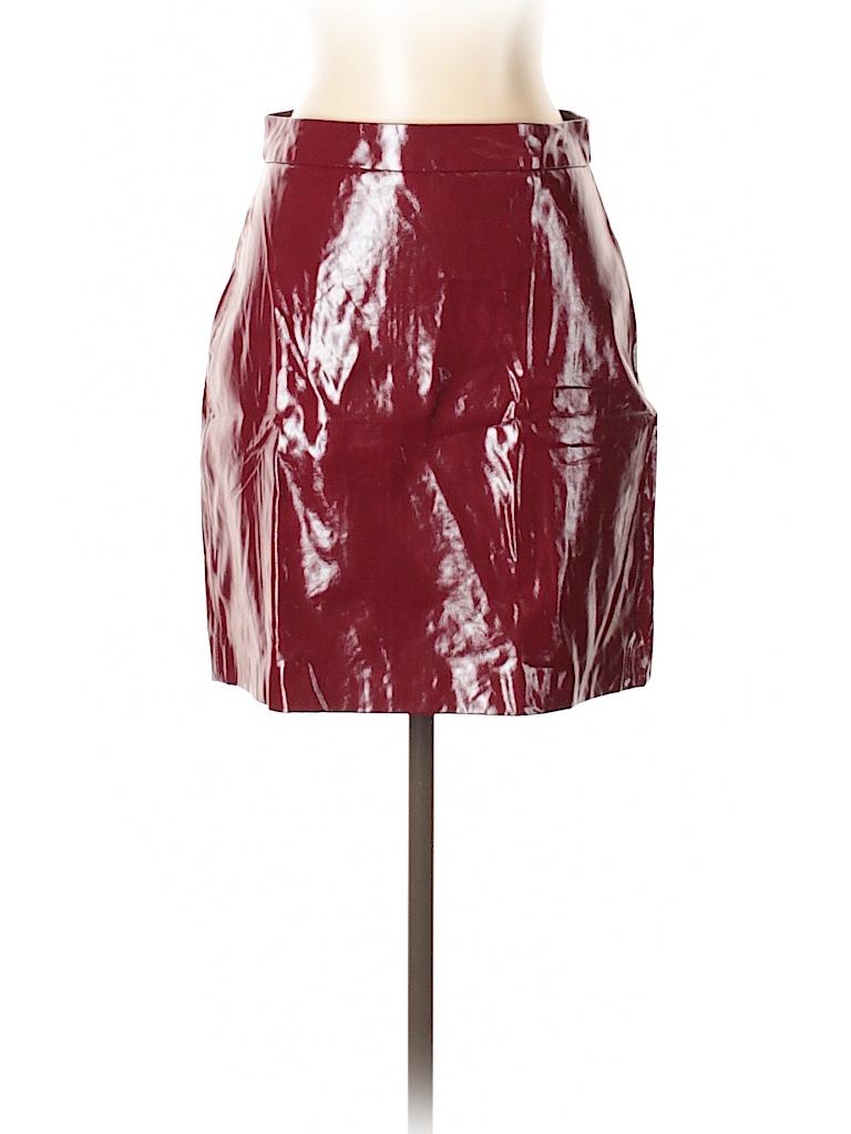 6c2e5bb3d Zara Faux Leather Skirt Burgundy | Saddha