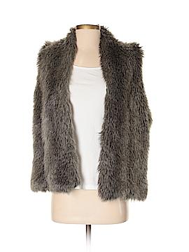 Garnet Hill Faux Fur Vest Size M