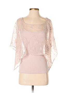 Bordeaux Short Sleeve Silk Top Size XS