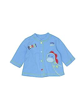 Okie Dokie Long Sleeve Button-Down Shirt Size 0-3 mo