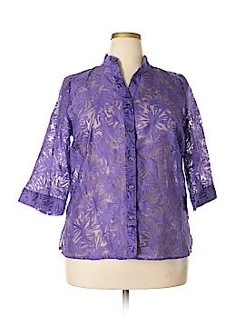 Valerie Stevens Long Sleeve Blouse Size 1X (Plus)