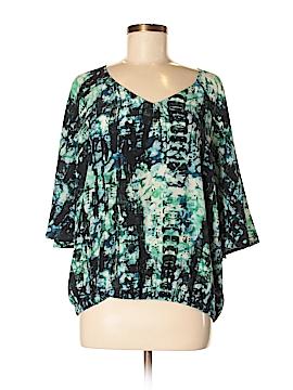 Crossley 3/4 Sleeve Silk Top Size S