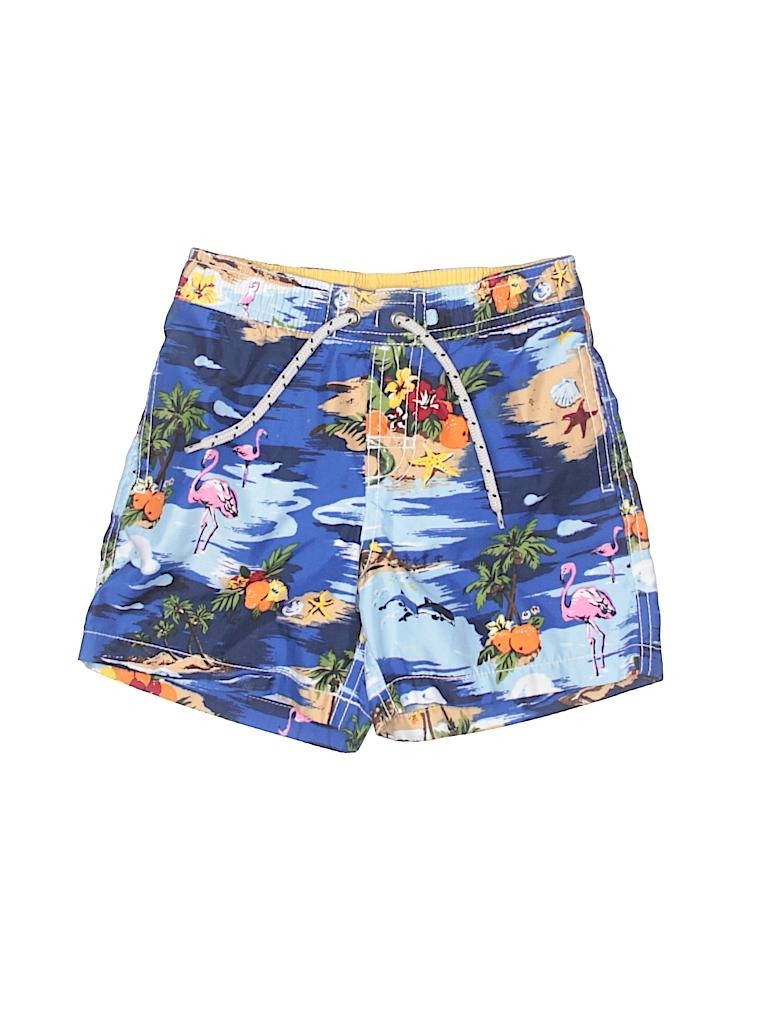 13c5e5ce9e Baby Gap Tropical Dark Blue Board Shorts Size 3 - 90% off | thredUP