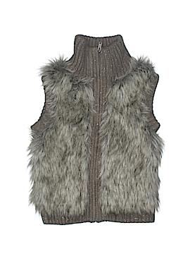 Justice Faux Fur Vest Size 8
