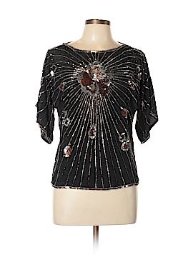 Argenti Short Sleeve Silk Top Size M