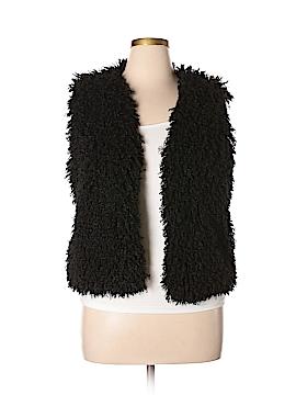 Josie Natori Faux Fur Vest Size M